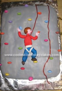 Homemade Climbing Wall Cake