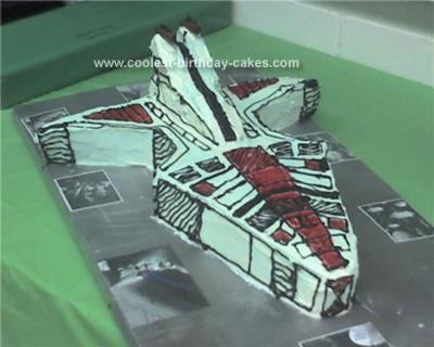Homemade Clone Wars War Ship Cake