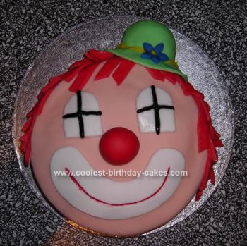 Homemade Clown Birthday Cake
