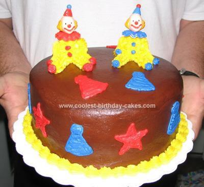 Homemade Clown Cake