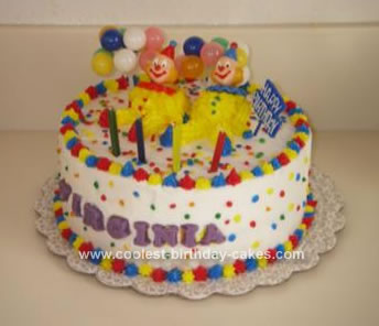 Homemade Clown Cake