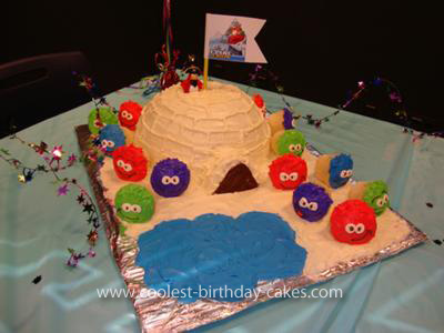 Homemade Club Penguin Cake
