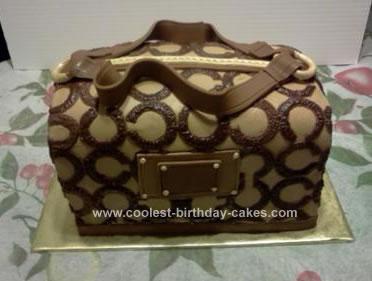 Homemade Coach Purse Cake
