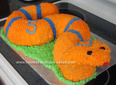 Homemade Cobra Snake Cake