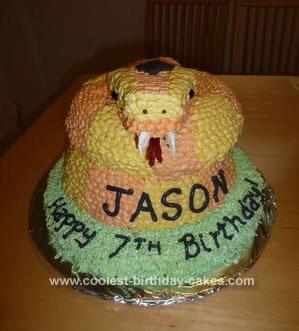 Homemade Coiled Snake Cake