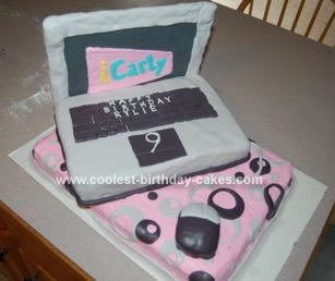 Homemade ICarly Computer Cake
