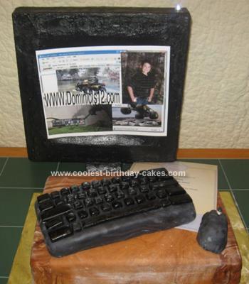 Homemade Computer Cake