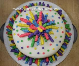 Homemade Confetti Cake
