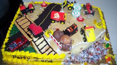 Awe Inspiring Cool Homemade Construction Site Birthday Cake With Oreo Cookie Dirt Birthday Cards Printable Trancafe Filternl