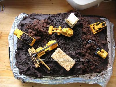 Pleasant Coolest Homemade Construction Site Birthday Cake Funny Birthday Cards Online Alyptdamsfinfo