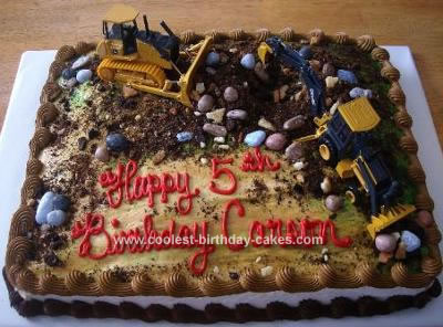 Super Coolest Homemade Construction Site Cake Funny Birthday Cards Online Alyptdamsfinfo