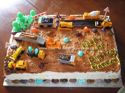 Easy Homemade Construction Site Cake