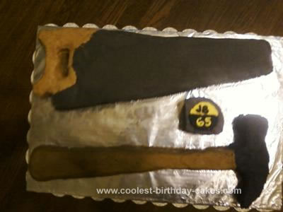 Homemade Construction Tools Birthday Cake