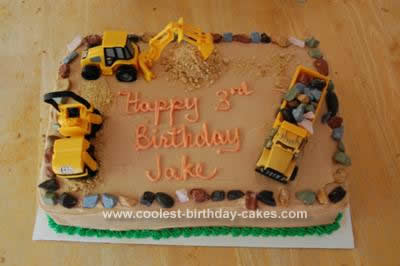 Remarkable Coolest Construction Truck Birthday Cake Birthday Cards Printable Benkemecafe Filternl