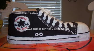 Homemade Converse Shoe Cake