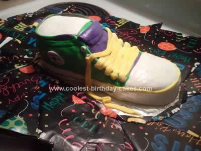 Homemade Converse Shoe Cake Design