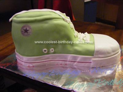 Homemade Converse Sneaker Cake