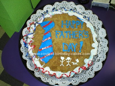Homemade  Cookie Fathers Day Cake