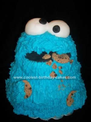 Marvelous Cool Homemade Cookie Monster Cake For A 15 Year Old Funny Birthday Cards Online Eattedamsfinfo