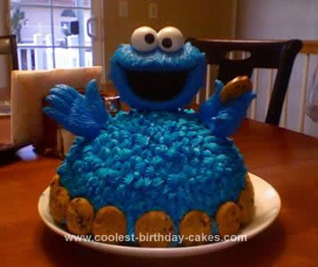 Awesome Homemade 3d Cookie Monster Cake