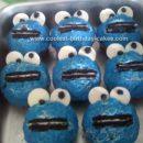 Homemade Cookie Monster Cupcakes