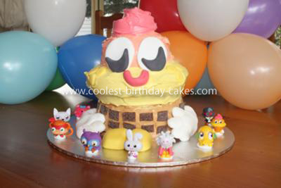 Homemade Coolio Moshi Monsters Cake