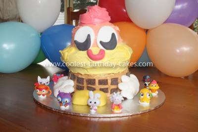 Homemade Coolio Moshi Monsters Cake