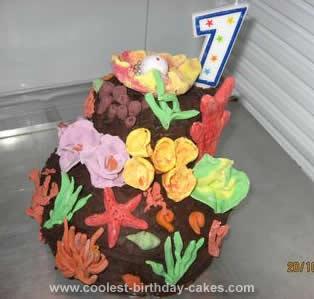Homemade Coral Reef Cake