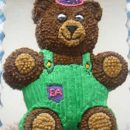 Homemade Corduroy Bear Birthday Cake