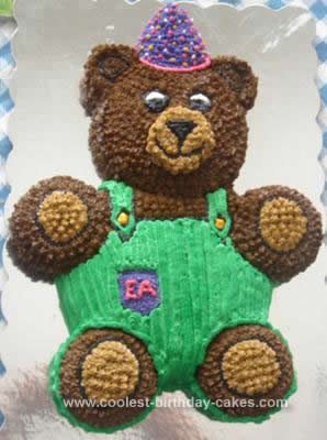 Homemade Corduroy Bear Birthday Cake