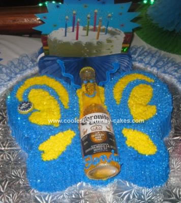 Homemade Corona Beer Birthday Cake