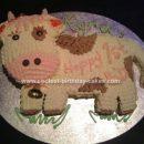 Homemade Cow 1st Birthday Cake