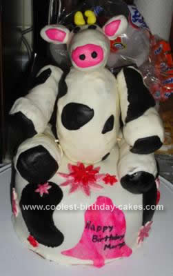 Homemade Cow Birthday Cake Idea