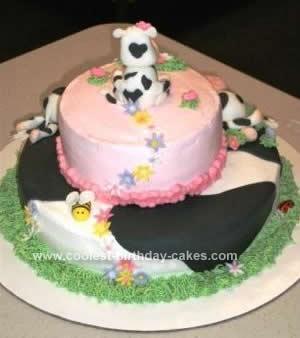 Homemade Cow Cake Idea