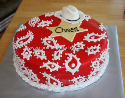 Homemade Cowboy Bandana Birthday Cake