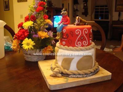 Homemade Cowboy Birthday Cake