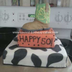 Homemade Cowboy Boot Birthday Cake