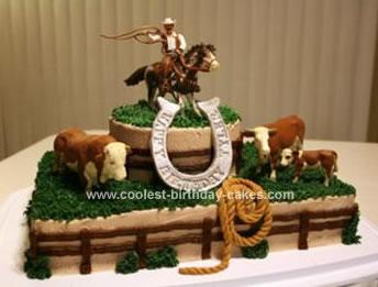Homemade Cowboy Roundup Cake
