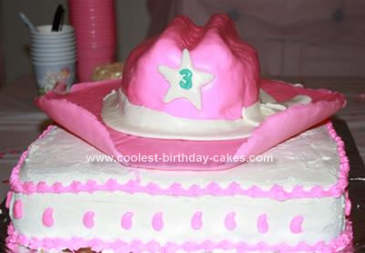 Homemade Cowgirl Hat Cake