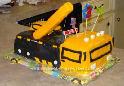 Coolest Crane Truck Birthday Cake Design