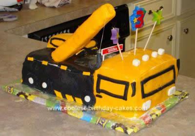 Remarkable Coolest Crane Truck Birthday Cake Design Birthday Cards Printable Opercafe Filternl