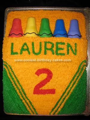 Homemade Crayola Box Birthday Cake