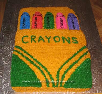 Homemade Crayola Crayon Cake