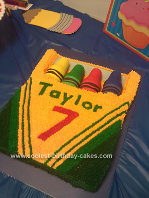 Homemade Crayon Box Birthday Cake