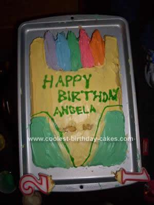 Homemade Crayon Cake