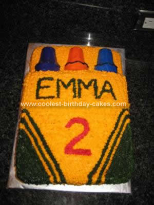 Homemade Crayon Cake Design