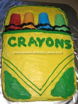 Homemade Crayons Cake