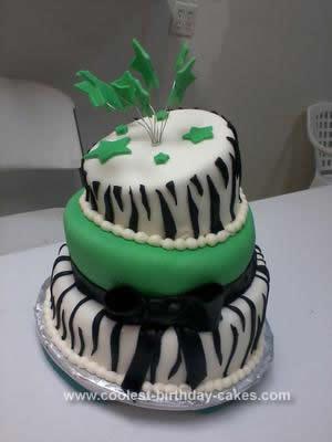 Homemade Craziest Topsy Turvy Birthday Cake
