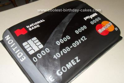 Homemade Credit Card Cake