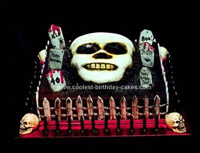 Strange Coolest Creepy Halloween Cake Personalised Birthday Cards Epsylily Jamesorg